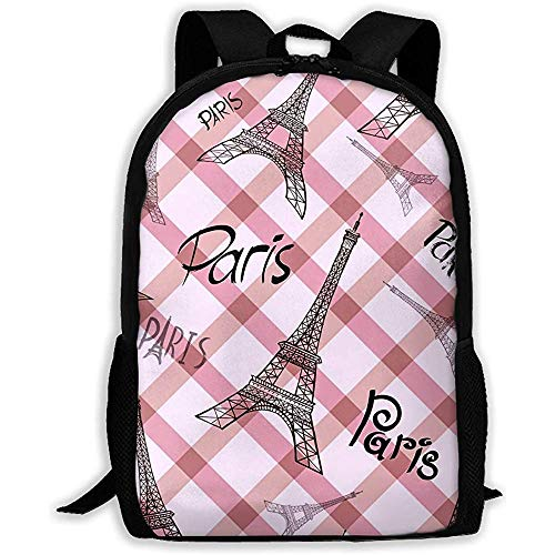 huatongxin Backpack Eiffel Tower Paris Bookbag Casual Travel Bag for Teen Boys Girls