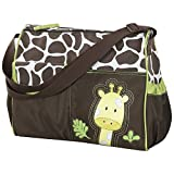 Accessotech–impermeable bebé pañales pañal momia Cambio bolso hombro bolsa con alfombrilla de viaje verde Giraffe Green
