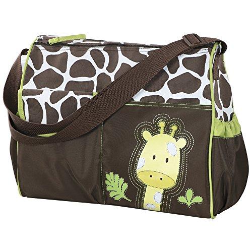 Accessotech Waterproof Baby Diaper Nappy Mummy Changing Handbag Shoulder Bag with Mat Travel (Giraffe Green)