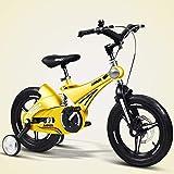 Triciclo Bebé Trolley Trike Bicicleta for niños conveniente, 14/16 pulgadas Cochecito de bebé 3-6 años de edad Montaña Bicicleta Bicicleta Bicicleta Bicicleta Bicicleta cómoda (Color: Amarillo, Tamaño