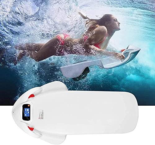 Sgxiyue Adulto mar Scooter mar Submarino propulsor natación Patada Tabla Tabla de Surf Tablero eléctrico suspensión Independiente propulsor Blanco