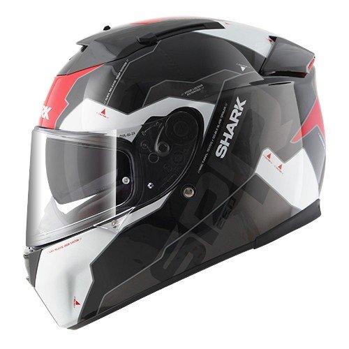 Shark casco Moto Speed R Serie 2Sauer II KRW, Negro/Rojo, talla S