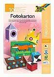folia 606 - Block mit farbig sortiertem Fotokarton, ca. 22 x 33 cm, 10 Blatt, 300 g/qm, ideale Grundlage für vielfältige Bastelarbeiten wie Fensterbilder, Scrapbooking, Kartengestaltung