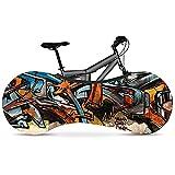 KSHYE Bicicleta Cubierta Interior Cubierta Graffiti Serie de Alta Resistencia Tela elástica Cubierta de Bicicleta de Carretera Accesorios de Bicicleta (Color : 18)