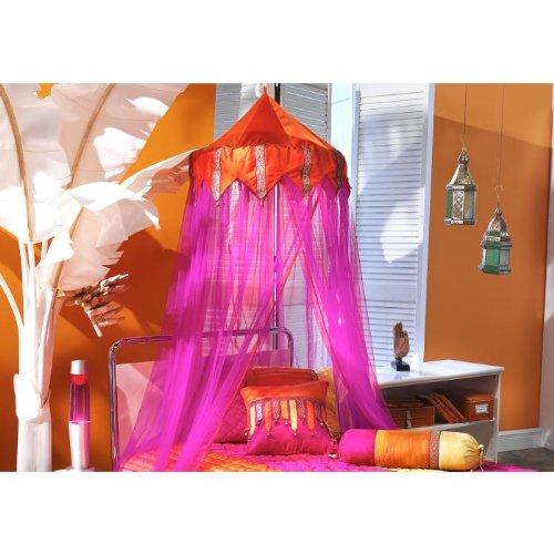 Bacati - Tangerine Orange & Fuchsia Bed Canopy 96