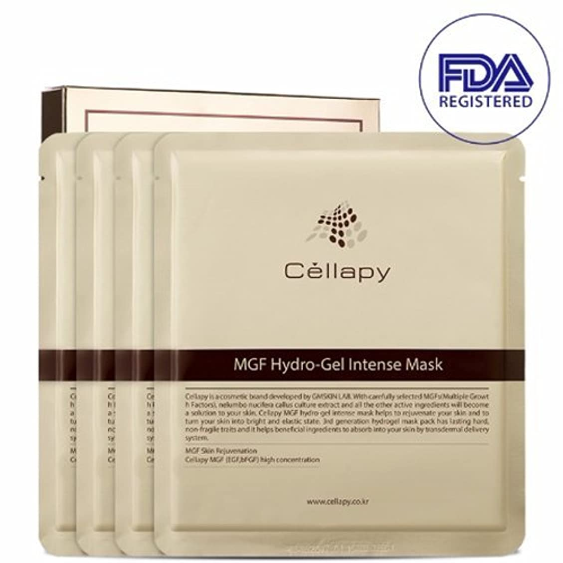 上がるハック色合いセルラピ MGFハイドロゲルインテンスマスクシート25g*4枚セット[並行輸入品] / Cellapy MGF Hydro-Gel Intense Mask Sheet 25g 4pcs Set for Irritable, Sensitive & Dry skin