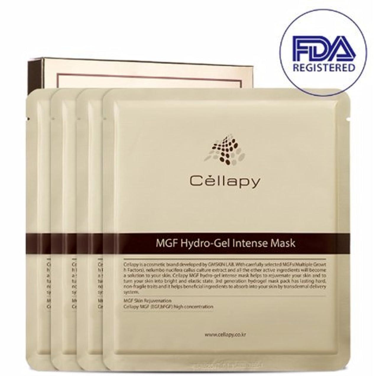 祈り不適切なワードローブセルラピ MGFハイドロゲルインテンスマスクシート25g*4枚セット[並行輸入品] / Cellapy MGF Hydro-Gel Intense Mask Sheet 25g 4pcs Set for Irritable, Sensitive & Dry skin