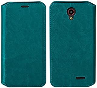 Galaxy Wireless GW Cases Compatible for ZTE Maven 2 Case, ZTE Avid Trio Case, Slim Flip Folio [Kickstand] Pu Leather Wallet Case with ID&Card Slot Wallet Case - Turquoise