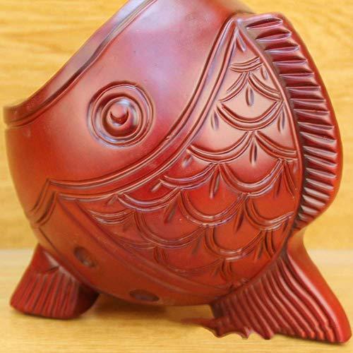 HYY-YY familia europea vino estante resina artesanía madera roja pescado decoración del hogar escritorio pluma titular creativo vino estante delicado hermoso para el hogar