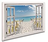 Ayra- Leinwandbild Wandbild Fensterblick Keilrahmenbild