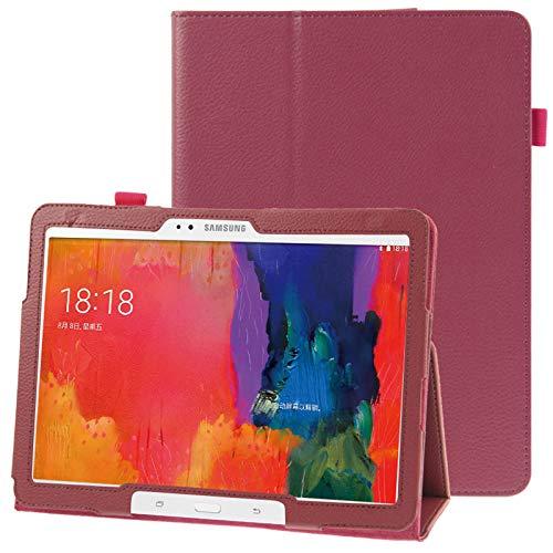 Caja Protectora de la Tableta Funda de Cuero con Textura con Soporte for Galaxy Tab Pro 10.1 / T520 (Azul) (Color : Magenta)