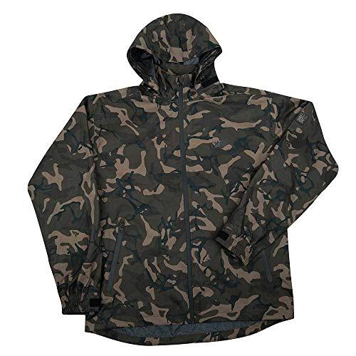 Fox Chunk 10k Lightweight Camo RS Jacket - Regenjacke zum Angeln, Regenbekleidung, Angeljacke für Karpfenangler & Wallerangler, Größe:S