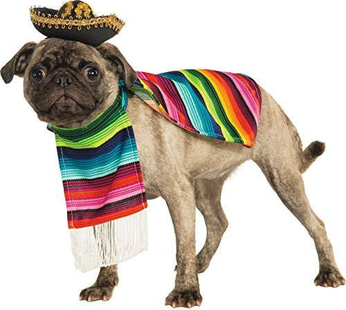 Rubie's Costume Halloween Classics Collection Pet Costume, Small, Mexican Serape
