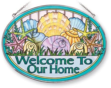 Amia 41241 Seashell Welcome to Our Home Sun 6-1 High order Elegant Oval 9 2-Inch by