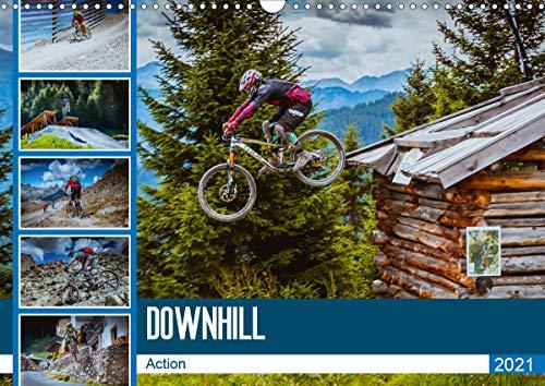 Downhill Action (Wandkalender 2021 DIN A3 quer)