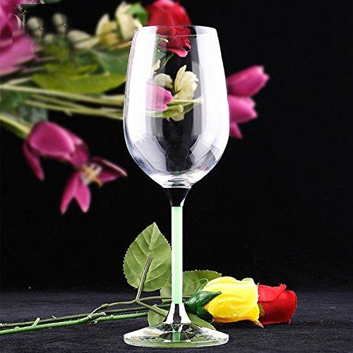JARONG Tasse À Vin Rouge Ruban De Verre sans Plomb Mariage Percer Crystal Cup