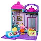 Peppa Wutz PEP0698 Peppa - Juego de café Helado con Soporte para Helado y 1 Figura Exclusiva de Peppa Pig para niños a Partir de 2 años