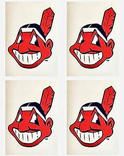 2c9d5d430c78d MLB 4 Cleveland Indians Team Logo Stickers Set of Four Individual Official  Major League Baseball Helmet