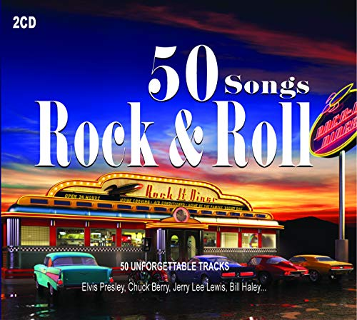 2CD 50 Songs Rock & Roll, Elvis Presley,Pete Johnson, Chuck Berry, Ray Charles, Rock Roll Music