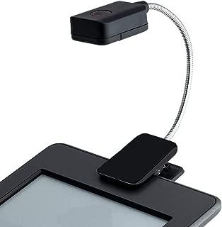 PUAK523 Luz LED Clip-on, Super Brillante Libro Lectura Luz con Cuello de Goseno Flexible Cuidado de Ojos Luz de Lectura Regulable para Escritorio, Cabecero de Cama, Ordenador, Negro, Tamaño Libre