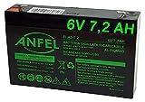 ANFEL 6V 7Ah 6V 7Ah Batteria di Ricambio di sigillata agli acidi di Piombo 7,2 ah Lunga Durata