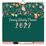 Boxclever Press Family Weekly Planner 2021 2022. Wall Calendar 2021-2022 with 6 Column Layout. Family Calendar 2021 2022 Runs mid-Aug'21 - Dec'22. 2021 2022 Calendar with Lists, Pocket & Stickers