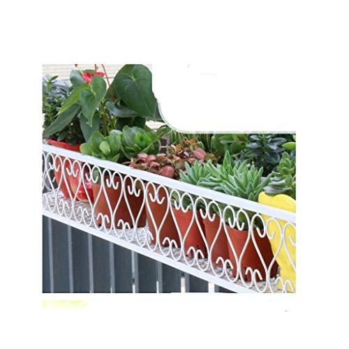 YUEXIN Rastrelliera da Appendere per vasi di Fiori in Ferro battuto,Ornamenti da Giardino Balcone Supporto per Fiori Appeso Appeso Vaso da Fiori, per ringhiera e Recinzione Esterna