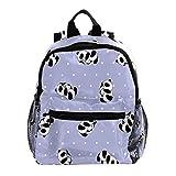 Mochila para Niñas Niños Bolsa de Escuela Niños Librero Mujeres Casual Daypack Rosa Azúcar cráneo Cruz Púrpura Little Panda Beber Leche 25.4x10x30 CM/10x4x12 in
