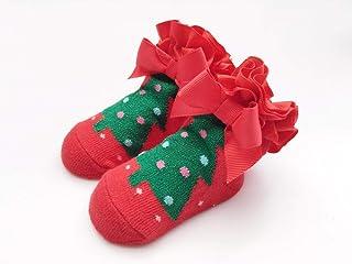 Tony plate, Tony plate Calcetines navideños Calcetines de algodón Calcetines de Papá Noel Niños Invierno Niño Calcetín navideño Calcetines Antideslizantes para bebés 24M