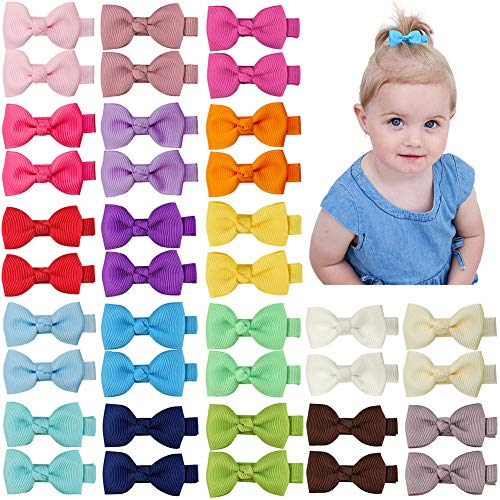 Product Image of the Ruyaa Hair Bow Clip for Baby Girl Fully Covered Non Slip for Fine Hair Small 2...