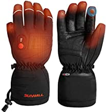 Heated Gloves for Men Women, Rechargeable Battery Electric Heating Ski Gloves for Hunting Motorcycle Snowboarding Gloves