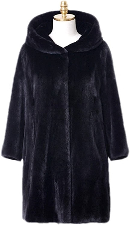 Women's Faux Fur Casual Luxury Vintage Coat Hooded Parka Hooded Jacket