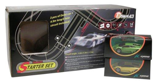 Kyosho - D1434092LB - Radio Commande, Véhicule Miniature et Circuit - Pack DSLOT43 Starter Set + Lamborghini Murcielago - Jaune et Vert