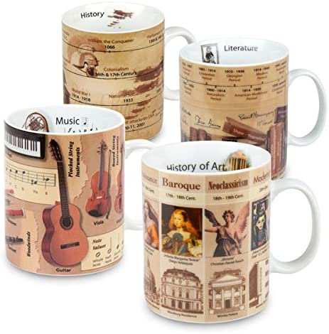 Konitz Assorted 15 ounce-Mugs of 4 Knowledge Literatur Rare Sale SALE% OFF Set