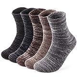 靴下 メンズ 冬 厚手 防寒 あったか温暖力 スキー ヒートテック 足底クッション編み くつした 綿 吸汗 防臭 抗菌 靴下 アウトドア 5足セット24-28cm (厚手靴の下2)