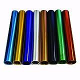 Amber Athletic Gear Set de 8 Bâtons de relais en aluminium Multicolore