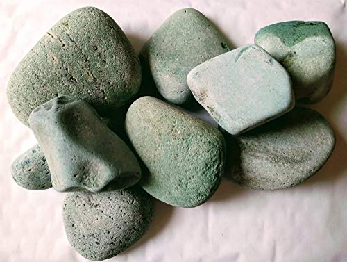SOOTHING IDEAS 1kg Green Japanese River Stones 50-130mm (4-8) Home Garden Pond