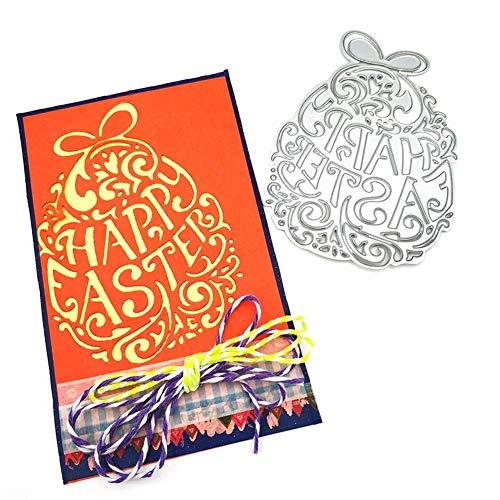Brandnieuw koolstofstaal decoratieve vorm paaseieren reliëfvorm album in reliëf foto's sjabloon gesneden metalen frame uil holle DIY snijden en lijmen handwerk intensely
