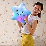 Shensee LED-Kissen, Sternenform, leuchtende Farben, wechselnd, weiches Kissen, Blau