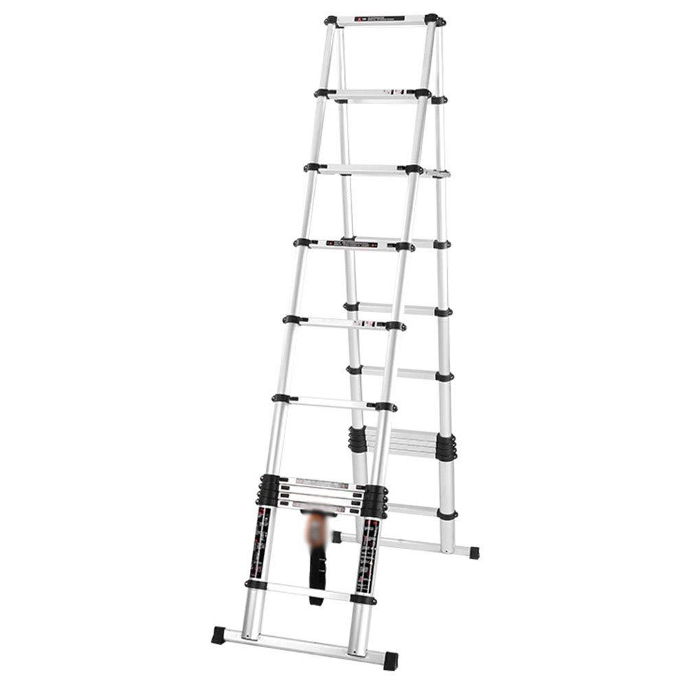LJSJT Escaleras Plegables Aleación de Aluminio Escalera Tipo A Escalera de extensión portátil Peso del rodamiento 150kg Escalera de 11 escalones Expandir Alto 3.2m: Amazon.es: Hogar
