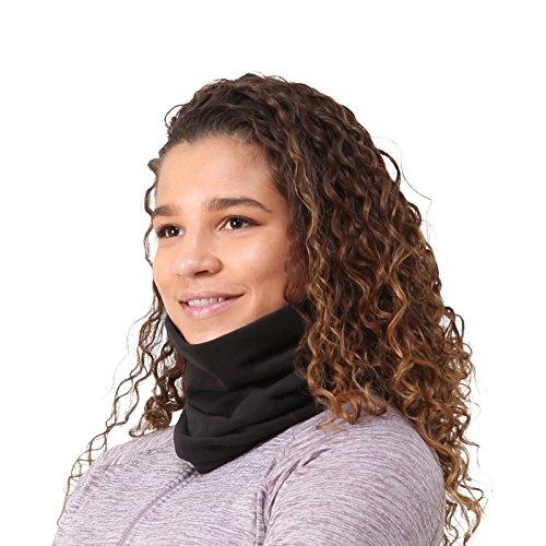 TrailHeads Aquecedor de pescoço de microlã   Polaina de pescoço contornada para inverno, Preto, tamanho �nico