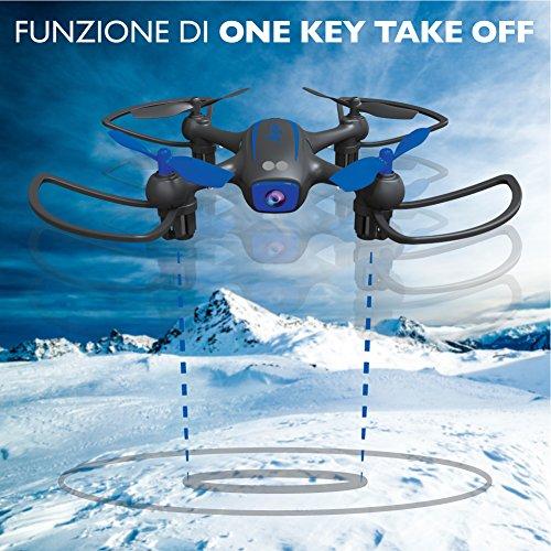 TwoDots Technology - TDFT0018 - Bluejay 2 Smartdrone - telecamera HD 720p e riprese via smartphone - nero