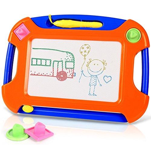 TTMOW Verdicktes Zaubertafel Kinder Maltafel für Kinder ab 2 ab 3 mit Magnetische Stempel, Lerntafel Reißbrett Kindergeschenk, Hinzugefügter Bereich für Malerei