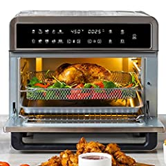 𝗬𝗼𝘂𝗿 𝗡𝗲𝘄 𝗚𝗼-𝗧𝗼 𝗔𝗽𝗽𝗹𝗶𝗮𝗻𝗰𝗲! The All-in-1 Aria replaces your deep fryer, microwave, toaster, convection oven, and more while reducing fat in your food by up to 90% and eliminating the need for oil! 𝗦𝗽𝗮𝗰𝗶𝗼𝘂𝘀 𝗙𝗮𝗺𝗶𝗹𝘆-𝗦𝗶𝘇𝗲𝗱 𝗖𝗮𝗽𝗮𝗰𝗶𝘁𝘆: 30Qt Oven with multiple...