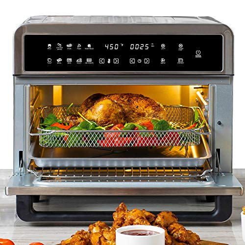 Aria Air Fryers ATO-898 Toaster Oven Air Fryer, 30Qt, Brushed Stainless Steel