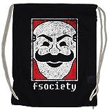 Urban Backwoods MR. Robot Fsociety Logo Bolsa de Cuerdas con Cordón Gimnasio Symbol Hacker Virus Wurm Malware TV Series E Corp