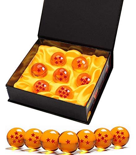 Killow 7 Piezas Bolas Dragon Ball, Bolas de Dragon 1 a 7 Estrellas con Caja de Regalo, Coleccionables para Dragonball Z Regalo (Diametro 4,3CM)