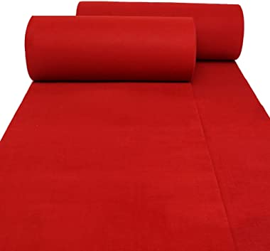 WX&QIANG Hallway Runner Rugs Corridor Carpet Disposable Red Marry Celebration Water Absorption 5mm Thick, 1 M / 1.2 M / 1.5 M
