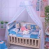 Bismarckbeer - Zanzariera per culla, traslucida, per lettino da appendere a baldacchino, tenda per cameretta dei bambini