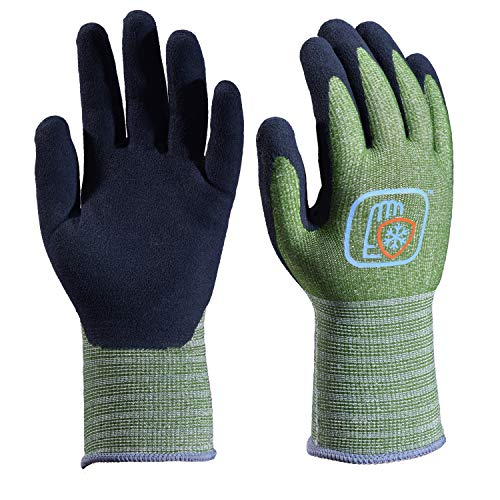 Safeyear Latex Coated Gloves,Gardening and Builders Gloves for Women and Men, Waterproof and Anti-Slip, Work Gloves for Gardening,Cleanig,Builders,Fishing,Construction,Warehouse and DIY Works(Large)